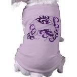 Purple Swirl Smooth Collie Dog Tshirt