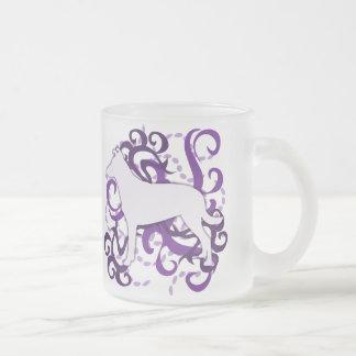 Purple Swirl Smooth Collie 10 Oz Frosted Glass Coffee Mug