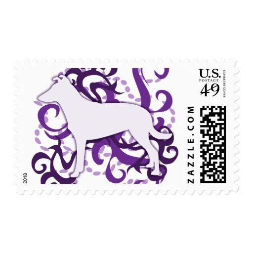 Purple Swirl Smooth Collie Postage