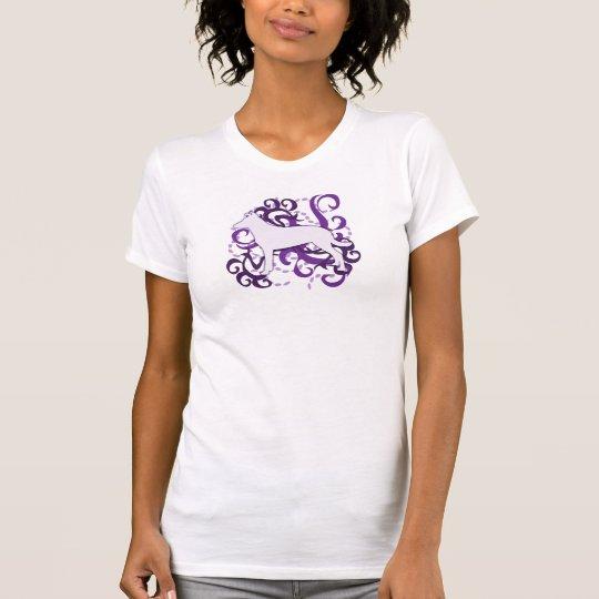 Purple Swirl Smooth Collie T-Shirt