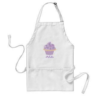 Purple Swirl Sprinkle Cupcake Adult Apron