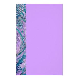 Purple swirl stationery paper