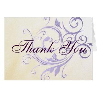 Purple Swirl Thank You Card