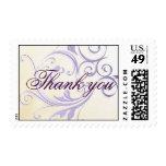 Purple Swirl Thank you Stamp