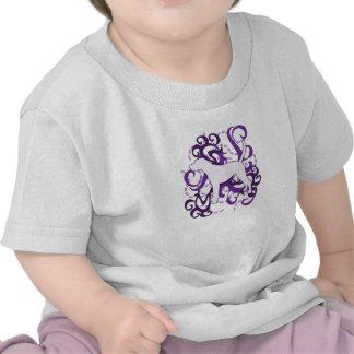 Purple Swirl Treeing Walker Coonhound Tshirts