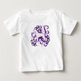 Purple Swirl Vizsla Baby T-Shirt