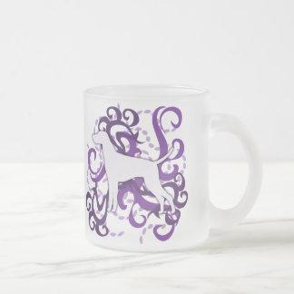 Purple Swirl Vizsla Mugs