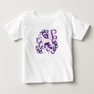 Purple Swirl Vizsla T-shirt