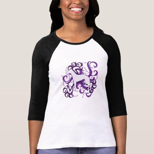 Purple Swirl Whippet T-Shirt