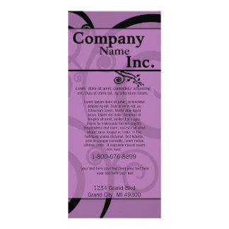 Purple Swirled Rack Card