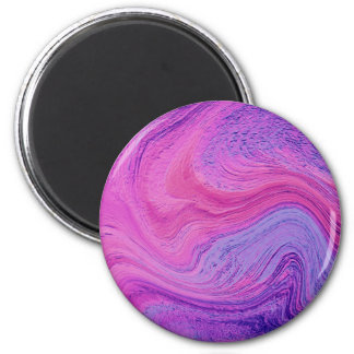 Purple Swirling Abstract Art 2 Inch Round Magnet