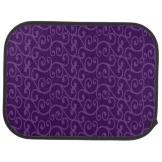 Purple swirls car mat