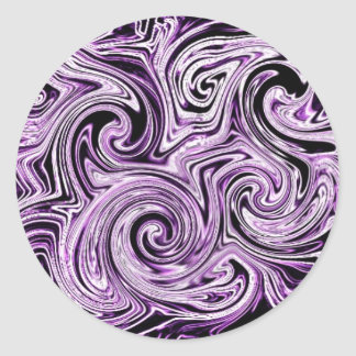 Purple Swirls Classic Round Sticker