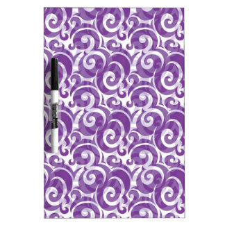 Purple Swirls Dry-Erase Whiteboards