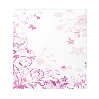 Purple Swirls Flowers Memo Pads