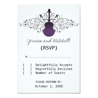 Purple Swirls Guitar Response Card