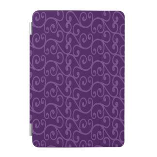 Purple swirls iPad mini cover