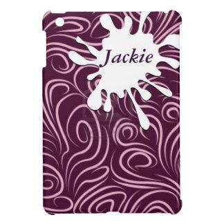 Purple Swirls Cover For The iPad Mini
