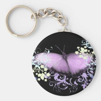 Purple Swirls Keychain