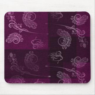 Purple Swirls Mouse Pad