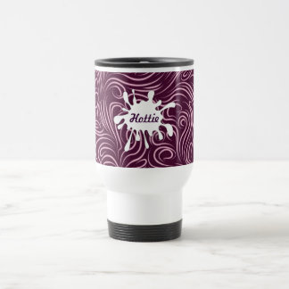 Purple Swirls 15 Oz Stainless Steel Travel Mug