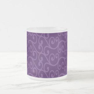 Purple swirls mugs