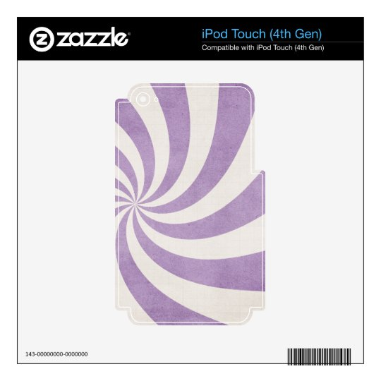 Purple swirls skins for iPod touch 4G