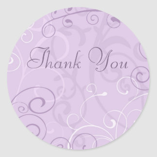 Purple Swirls Thank You Envelope Seals