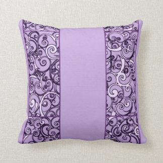 Purple Swirls Throw Pillows