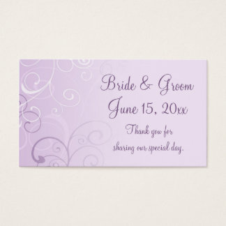 Purple Swirls Wedding Favor Tags