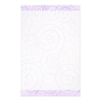Purple Swirls Wedding Writing Paper Personalized Stationery