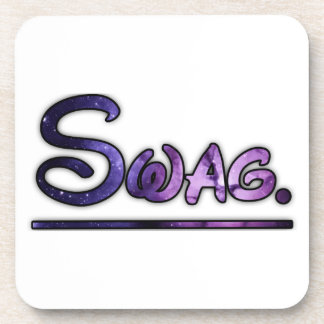 Purple swirly swag space drink coaster
