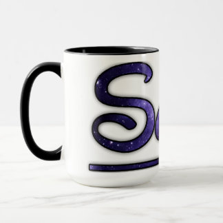 Purple swirly swag space mug
