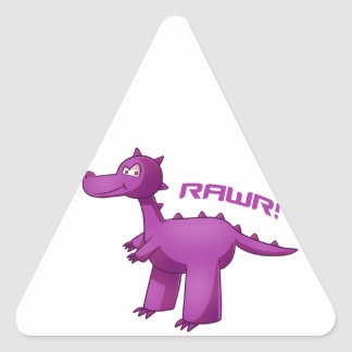 Purple T-Rex Triangle Sticker