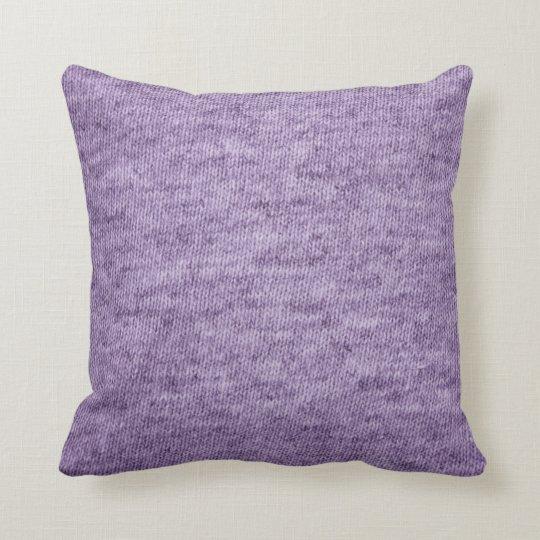 purple t-shirt fabric textured pillow