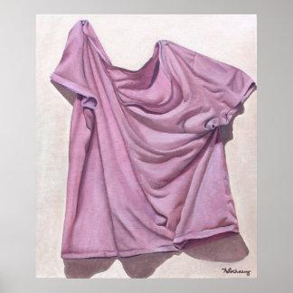 Purple T-Shirt Still Life Poster