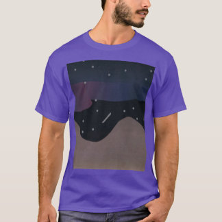 Purple T-shirt with Mountains & Night Sky