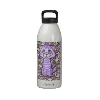 Purple Tabby Water Bottles