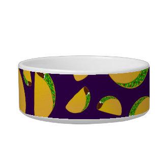Purple tacos cat food bowls
