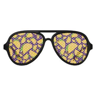Purple tacos aviator sunglasses