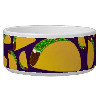Purple tacos pet food bowl