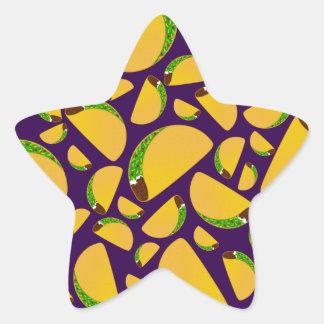 Purple tacos star sticker