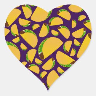 Purple tacos heart sticker