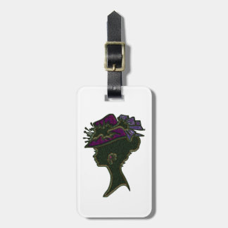 Purple Tailored Hat Luggage Tag