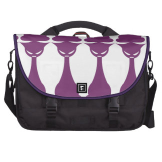 Purple Tall Cat Bag For Laptop