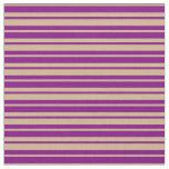 [ Thumbnail: Purple & Tan Colored Pattern Fabric ]