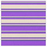 [ Thumbnail: Purple, Tan & Dark Slate Blue Lines Fabric ]