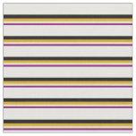 [ Thumbnail: Purple, Tan, Goldenrod, Black & White Colored Fabric ]