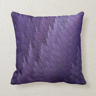 Purple Tartan Feather Pattern Design Throw Pillow