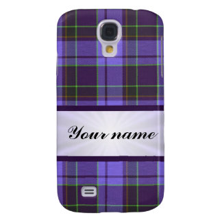 Purple Tartan With Ribbon Galaxy S4 Cover